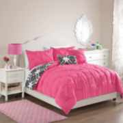 Victoria Classics Olivia Pintuck Damask Reversible Comforter Set