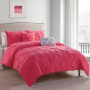 Victoria Classics Jana Chevron Pintuck Reversible Comforter Set