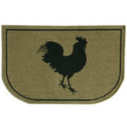 Bacova Rooster Burlap Wedge Rug