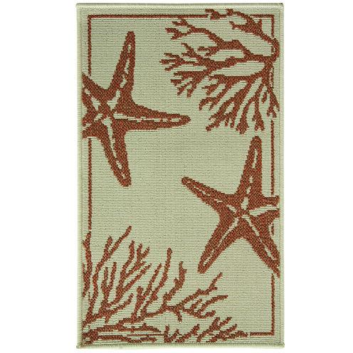 Bacova Coral Starfish Rectangular Rug