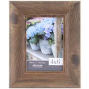 Teak Scoop Picture Frame