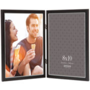 "Hinged 2-Opening 8x10"" Tabletop Picture Frame"