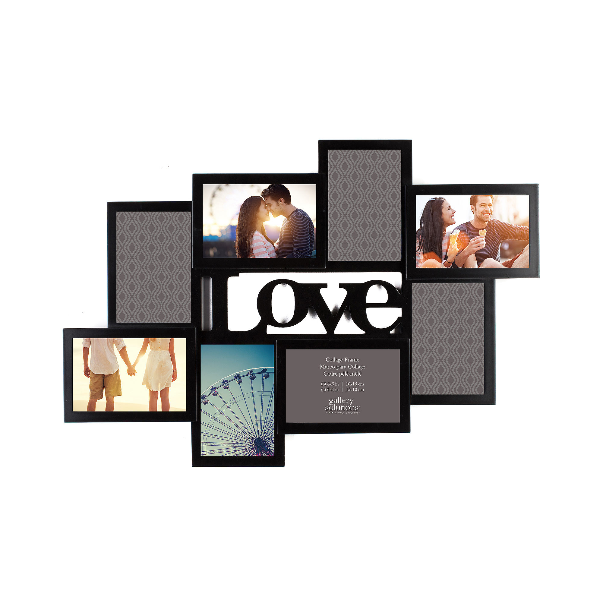 upc 038555381473 product image for love cutout 8 opening collage picture frame upcitemdb