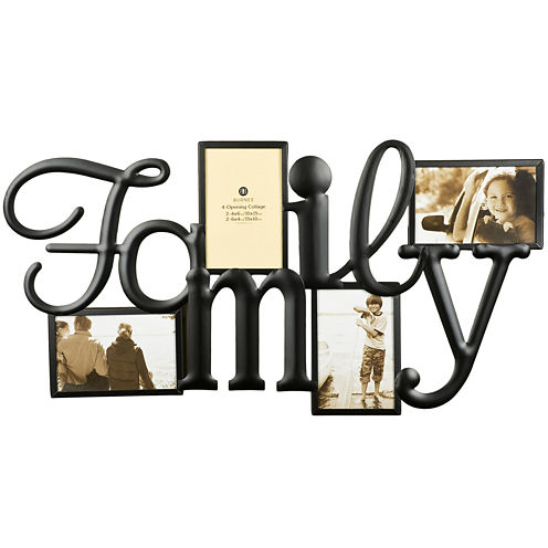 "Family 4-Opening 4x6"" Collage Picture Frame"
