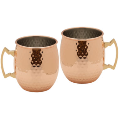 jcpenney.com | Towle® Set of 2 Hammered Copper-Plated Moscow Mule Mugs
