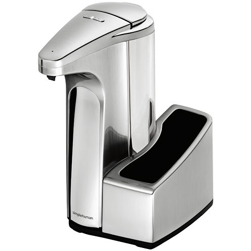 simplehuman® 13-oz. Sensor Pump Soap Dispenser with Caddy in Brushed Nickel