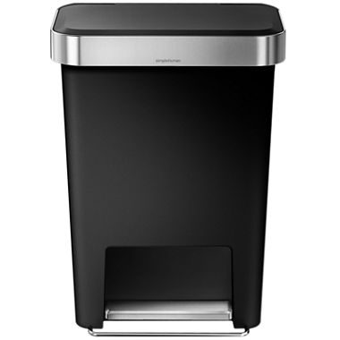 jcpenney com   simplehuman  45L Rectangular Trash Can in Black Plastic. simplehuman  45L Rectangular Trash Can in Black Plastic   JCPenney
