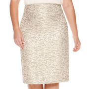 Worthington® Jacquard Pencil Skirt - Plus