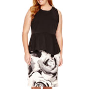 Worthington® Asymmetrical Peplum Top or Scuba Pencil Skirt - Plus
