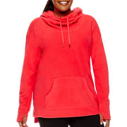 Xersion™ Long-Sleeve Fleece Pullover - Plus