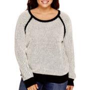 a.n.a® Long-Sleeve Sweater - Plus