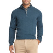 Van Heusen® Drop-Needle Quarter-Zip Sweater
