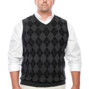IZOD® Argyle Sweater Vest - Big & Tall