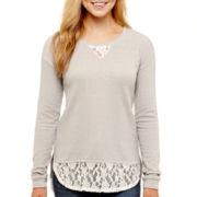 Arizona Long-Sleeve Lace Sweatshirt
