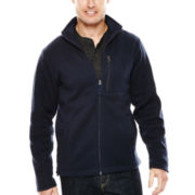 St. John's Bay® Full-Zip Fleece Sweater