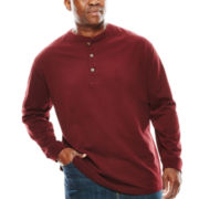 The Foundry Supply Co.™ Sueded Henley - Big & Tall