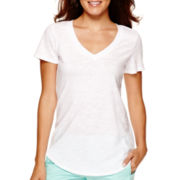 Stylus™ Short-Sleeve Slub V-Neck T-Shirt