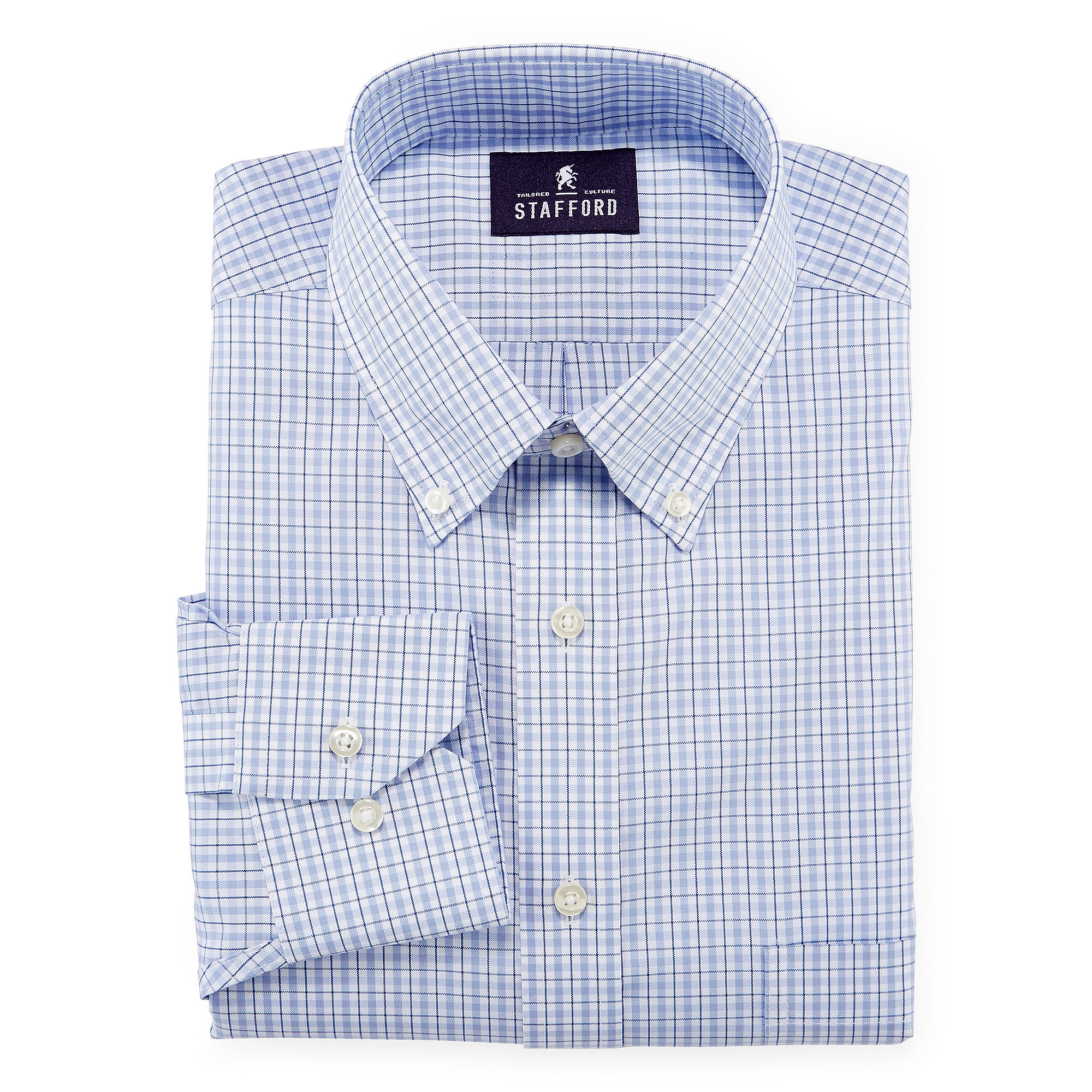 Upc 053188000034 stafford non iron cotton oxford dress for Stafford big and tall shirts