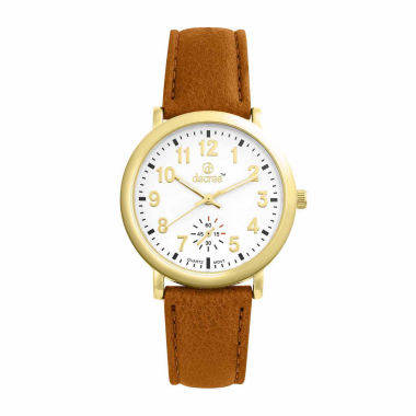 jcpenney.com | Decree Womens Brown Strap Watch-Pt1781gdcg