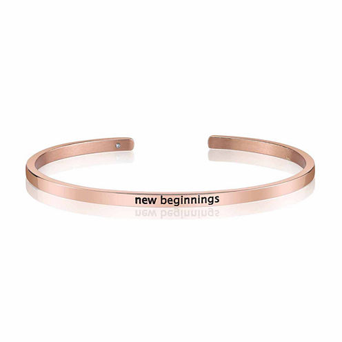 Footnotes Womens Rose Tone Cuff Bracelet