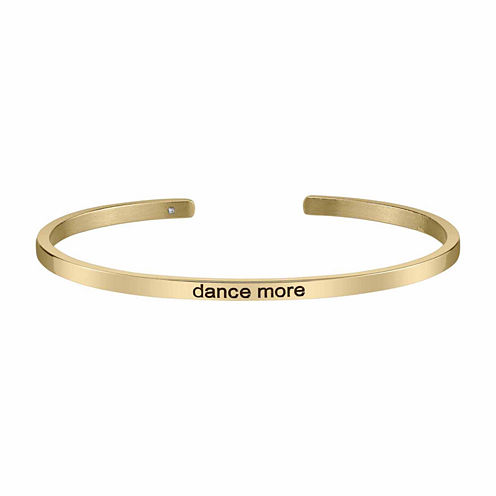 Footnotes Womens Gold Tone Cuff Bracelet