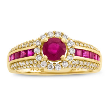 jcpenney.com | Womens Lead Glass Filled Red Ruby Cocktail Ring in 14K Gold