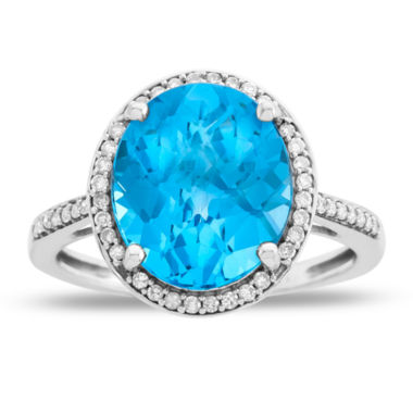 jcpenney.com | Womens Blue Blue Topaz 10K Gold Cocktail Ring