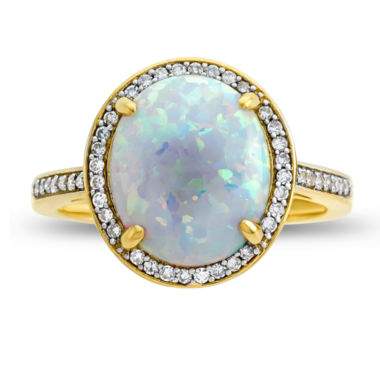 jcpenney.com | Womens 1/6 CT. T.W. Multi Color Opal 10K Gold Cocktail Ring