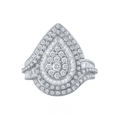 jcpenney.com | Womens 1 1/4 CT. T.W. White Diamond 10K Gold Cocktail Ring