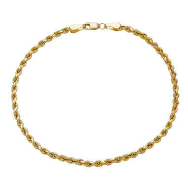 jcpenney.com | 14K Yellow Gold 3mm Rope Chain Bracelet