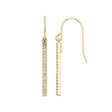 jcpenney.com | 1/4 CT. T.W. White Diamond Gold Over Silver Drop Earrings