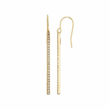 jcpenney.com | 1/2 CT. T.W. White Diamond Gold Over Silver Drop Earrings