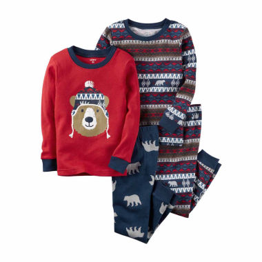 jcpenney.com | Carter's Boys 4-pc. Long Sleeve Kids Pajama Set-Baby