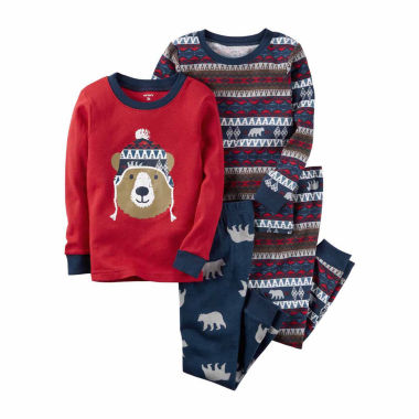 jcpenney.com | Carter's Boys 4-pc. Long Sleeve Kids Pajama Set-Toddler