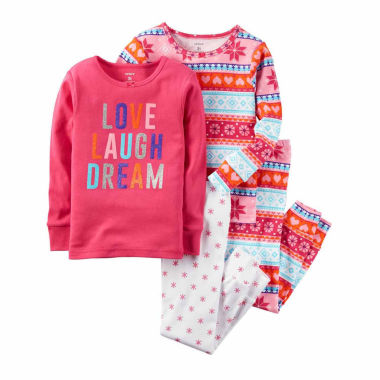 jcpenney.com | Carter's Girls 4-pc. Long Sleeve Kids Pajama Set-Toddler