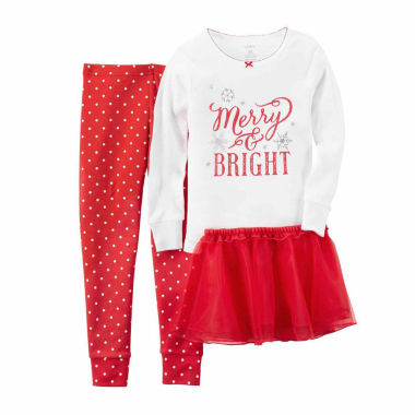 jcpenney.com | Carter's Girls Long Sleeve Kids Pajama Set-Baby