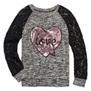 Miss Chevious Long-Sleeve Fashion Top - Girls 7-16
