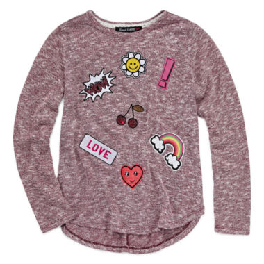 jcpenney.com | Almost Famous Girls Long Sleeve T-Shirt-Big Kid