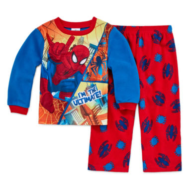 jcpenney.com | Boys Long Sleeve Spiderman Kids Pajama Set-Toddler