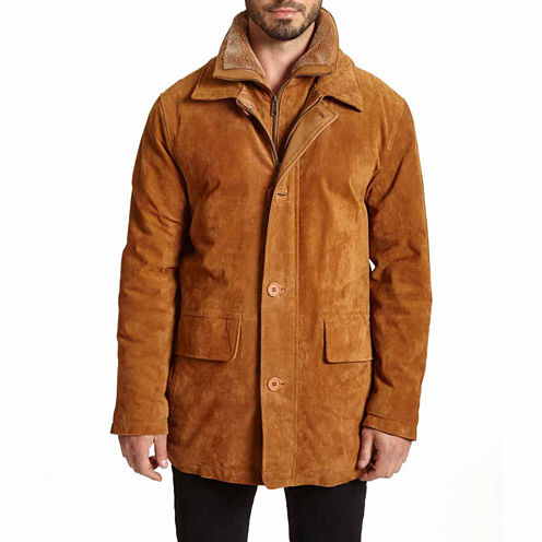 EXCELLED SUEDED LEATHER WALKING COAT