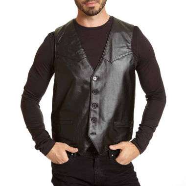 jcpenney.com | Excelled® Lambskin Leather Vest–Big & Tall