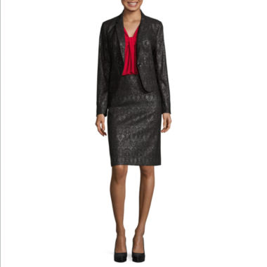 jcpenney.com | Worthington Essential Blazer, Sleeveless Knot-Neck Top, and Jacquard A-Line Skirt
