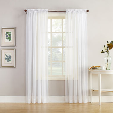 jcpenney.com | Home Expressions™ Jacqueline Rod-Pocket Sheer Panel Pair