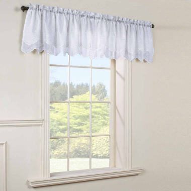 jcpenney.com | Hathaway Emb Val Rod-Pocket Scallop Valance