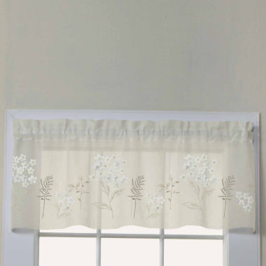 jcpenney.com | Hydrangea Embroidered Rod-Pocket Valance