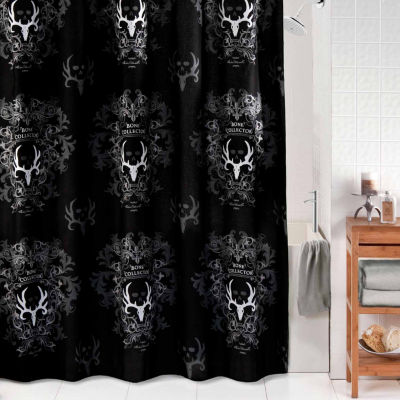Bone Collector Black Shower Curtain