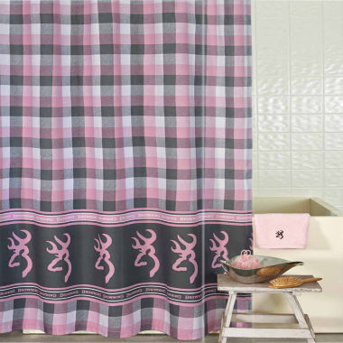 jcpenney.com | Browning Buckmark Plaid Shower Curtain