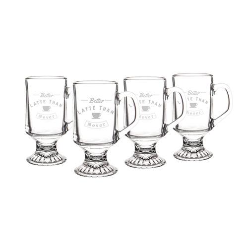 "Cathy's Concepts ""Better Latte Than Never"" Irish 4-pc. Coffee Mug"