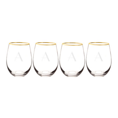jcpenney.com | Cathy's Concepts Gold Rim 4-pc. Wine Glass