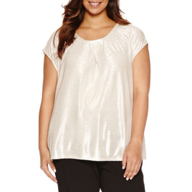 jcpenney.com | Liz Claiborne Sleeveless Crew Neck Knit Blouse-Plus